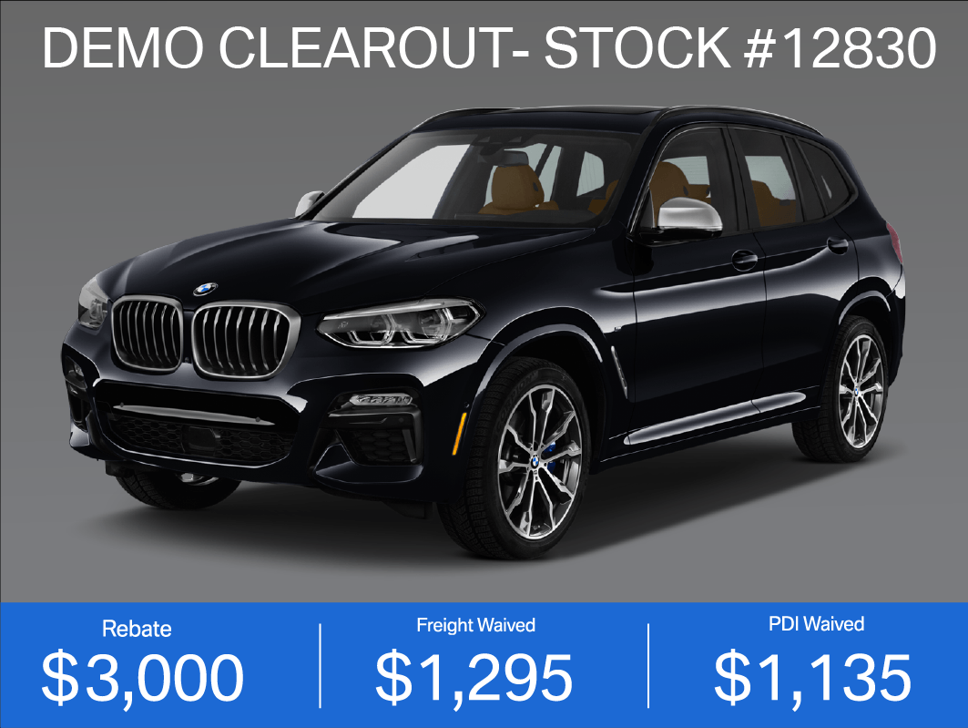 DEMO CLEAROUT- 2019 BMW X3 M40i (#12830)