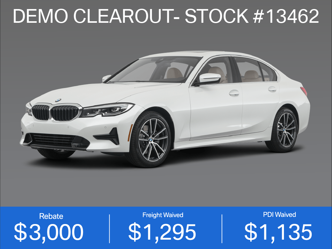 DEMO CLEAROUT- 2019 BMW 330i (#13462)