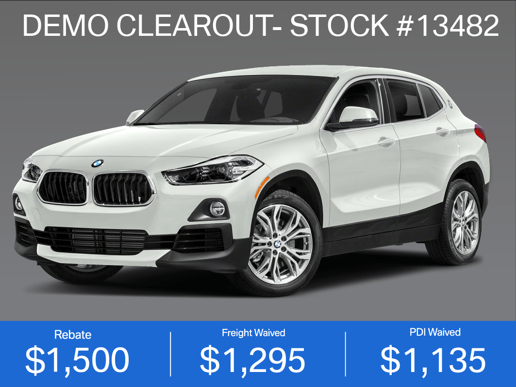DEMO CLEAROUT- 2019 BMW X2 (#13482)