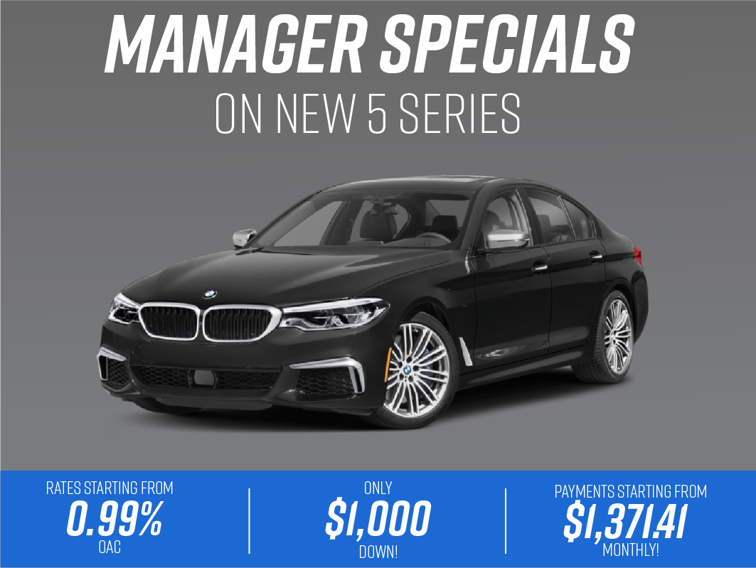 Manager Specials- New 5 Series