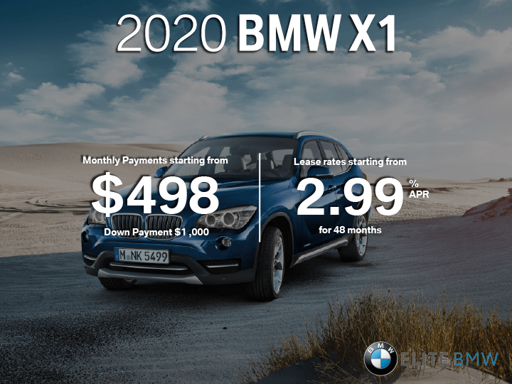 Lease the 2020 BMW X1
