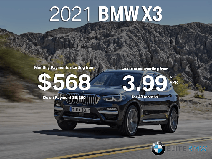 Lease the 2021 BMW X3